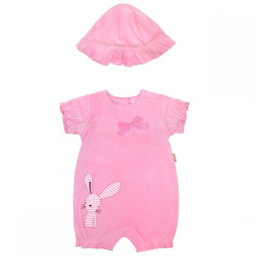 PINK CAT ROMPER WITH PIXIE STYLE HAT
